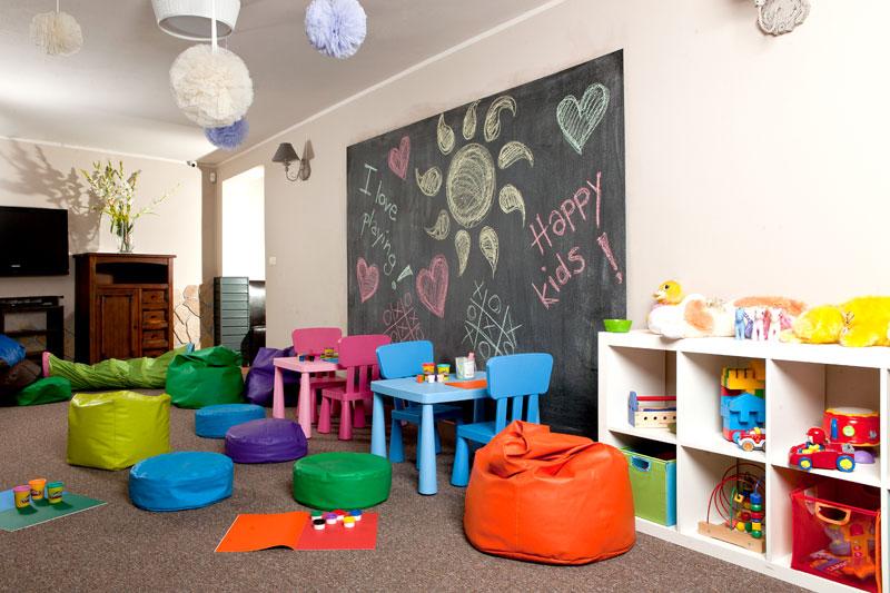 miejsce dla dzieci w restauracji bazylia